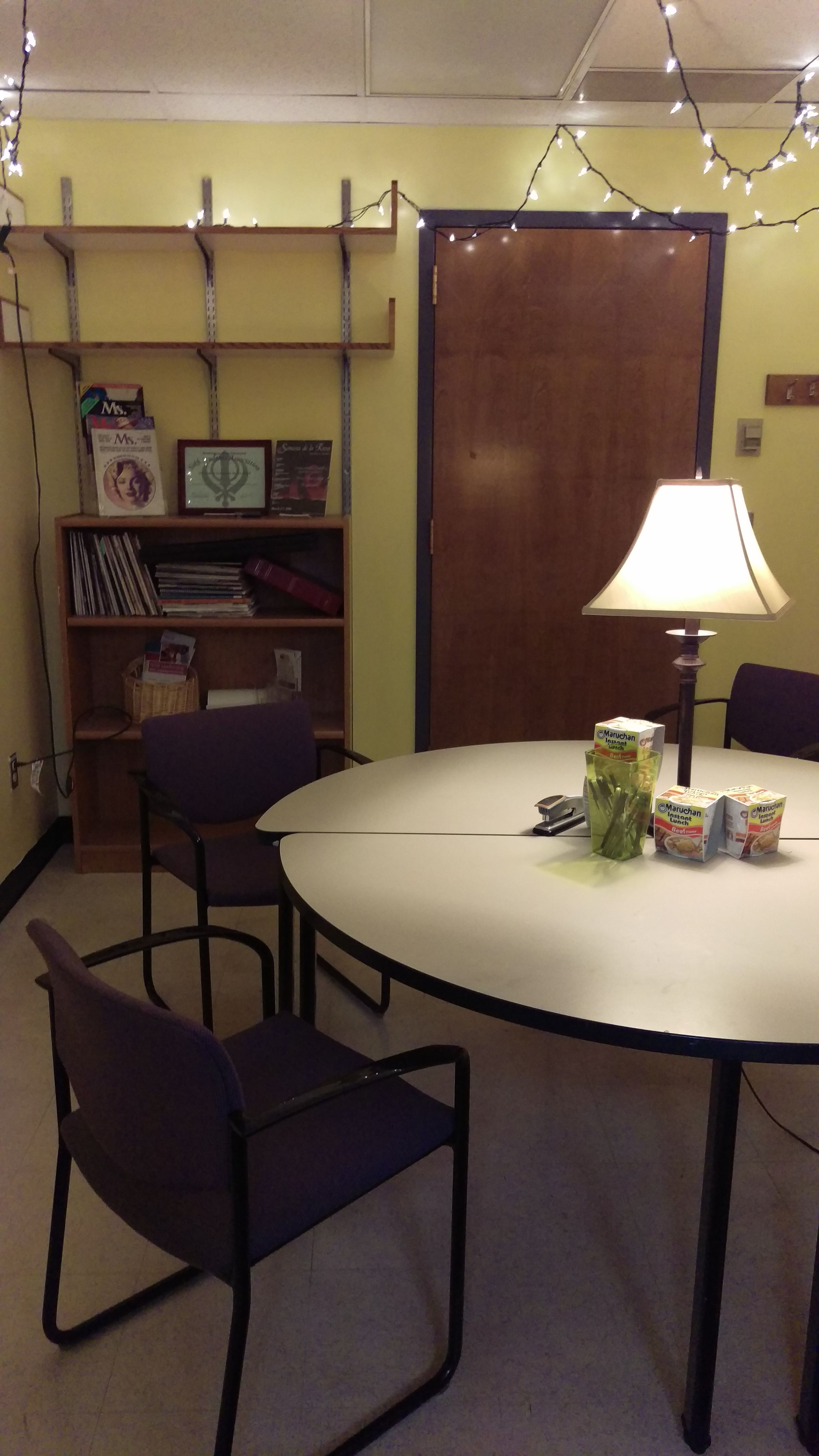 room with table and chairs